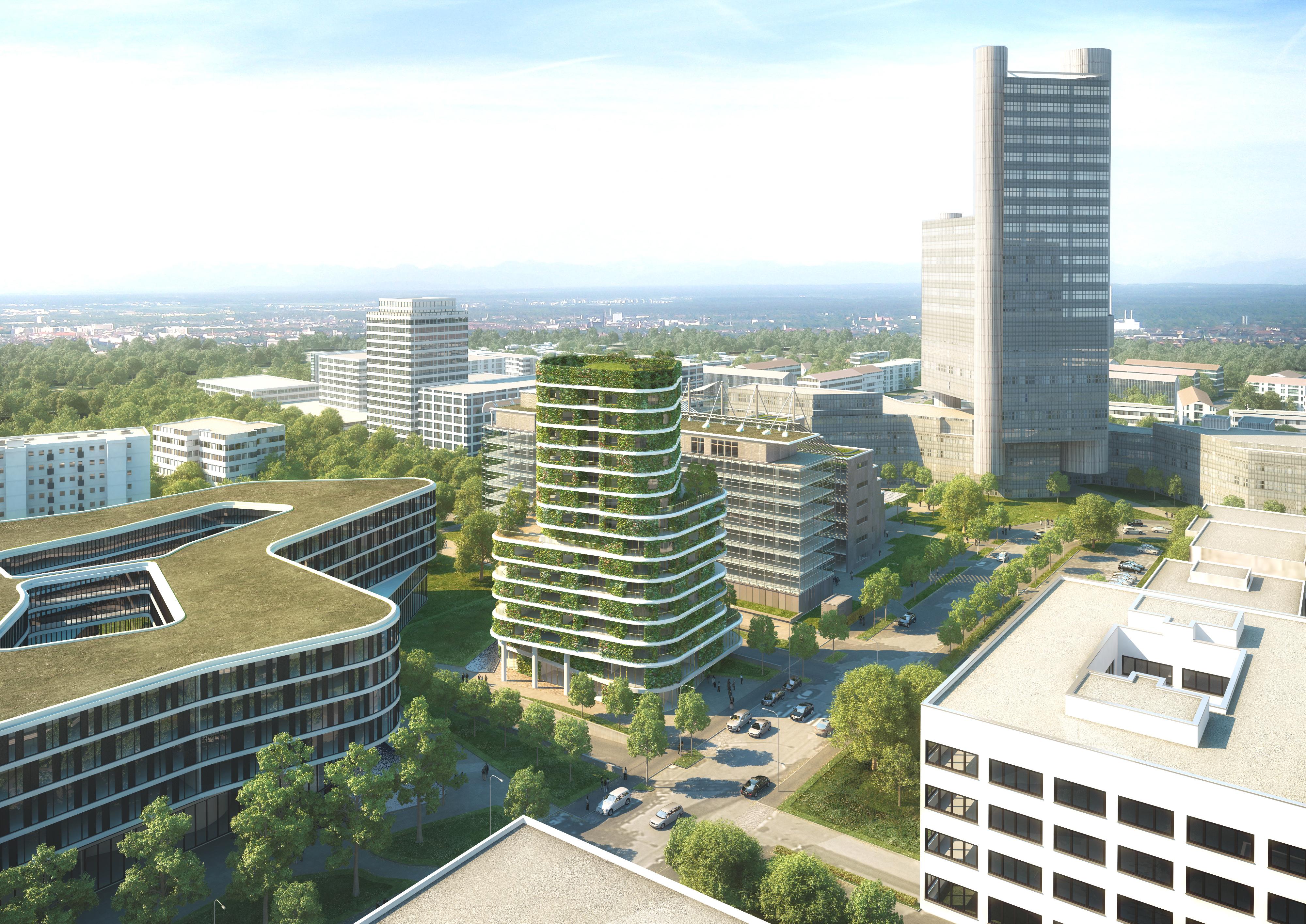 Wohnhochhaus arabellastr 26 vertikaler garten 52m in planung seite 2 deutsches - Deutsche architektur ...