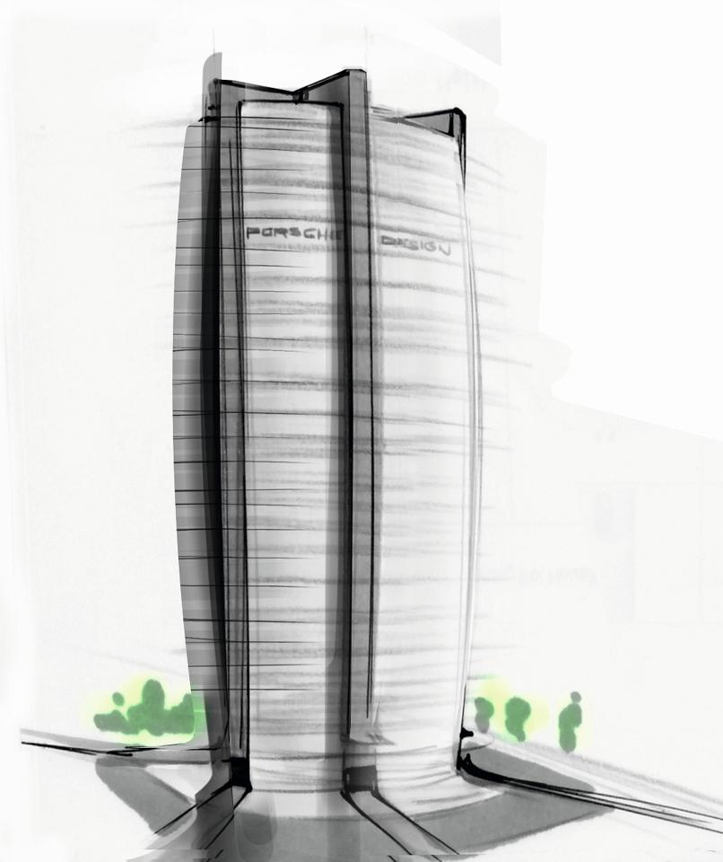 Wohnhochhaus Porsche Design Tower Frankfurt Geplant