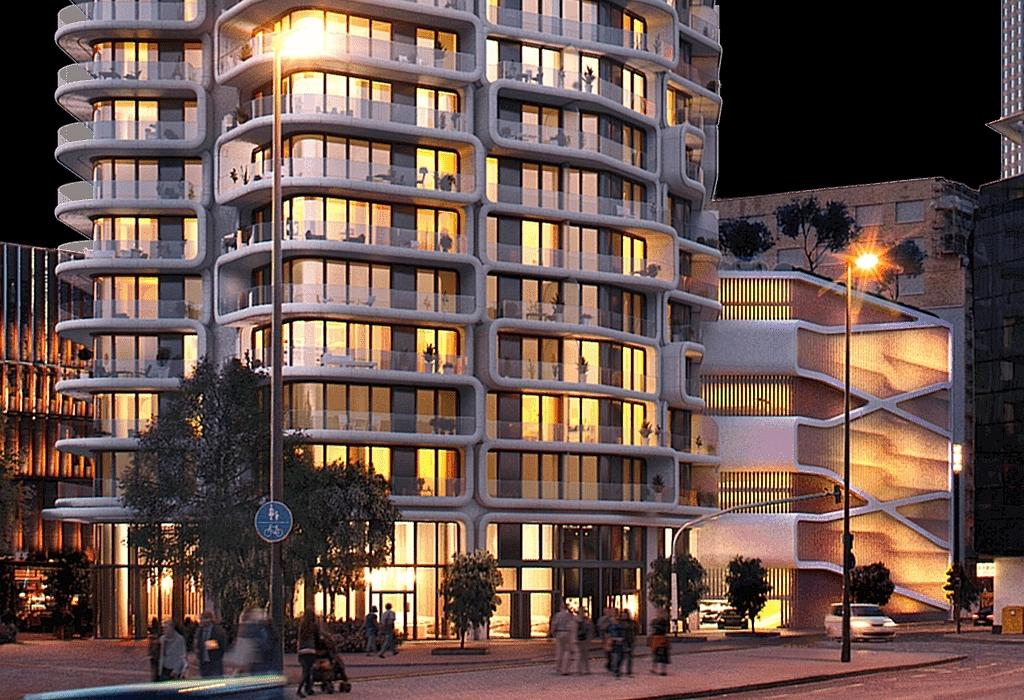 europaviertel grand tower 172 meter wohnhochhaus in. Black Bedroom Furniture Sets. Home Design Ideas