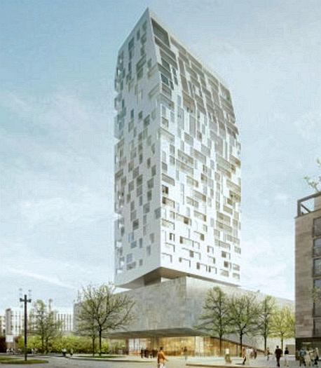 """Porsche Design Tower >> Wohnhochhaus """"Porsche Design Tower Frankfurt"""" (geplant) - Seite 2 - Deutsches Architektur-Forum"""